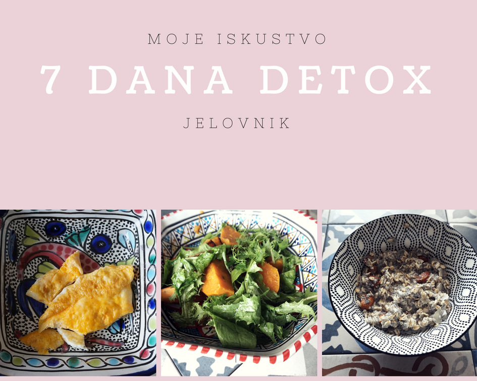 7 dana detox jelovnik – moje iskustvo